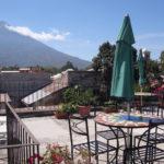 hotel with volcano views antigua guatemala