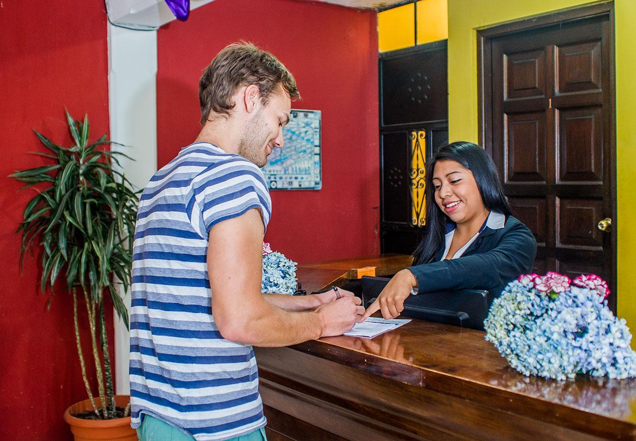 welcome to casa rustica hotel in Antigua Guatemala