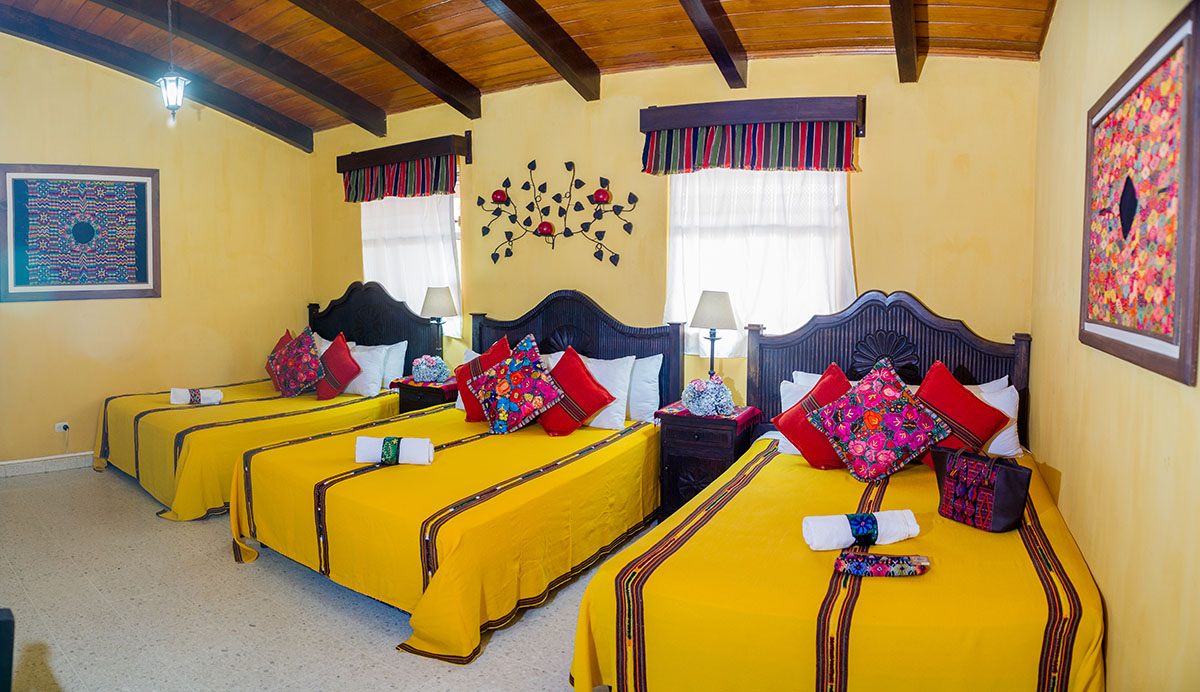 Triple or Cuadruple Hotel Room in Antigua Guatemala